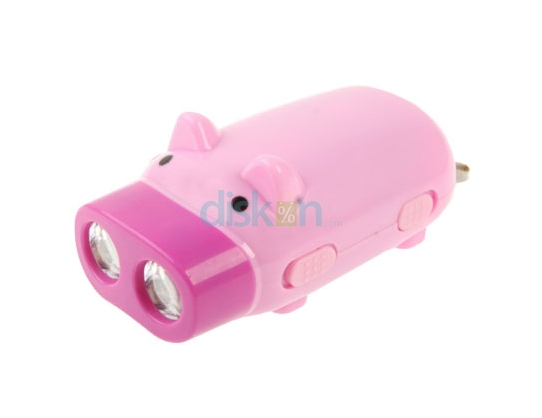 Hand Pressing Flashlight Piglet
